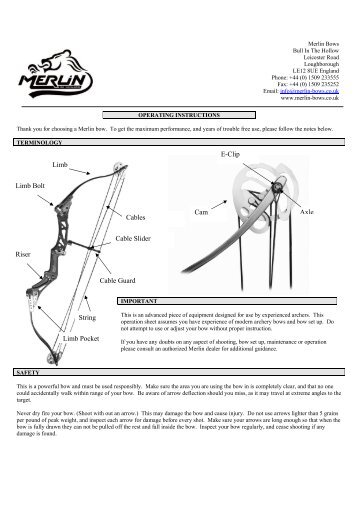 Compound Bow Owners Manual 2004-2005 - Merlin Archery