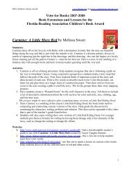 Carmine: A Little More Red by Melissa Sweet - Florida Reading ...