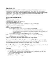 NOAA / CDC Memorandum of Understanding Summary - Climate ...