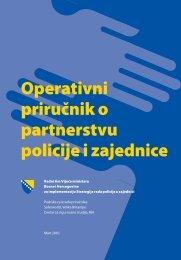 Operativni priručnik o partnerstvu policije i zajednice - Saferworld