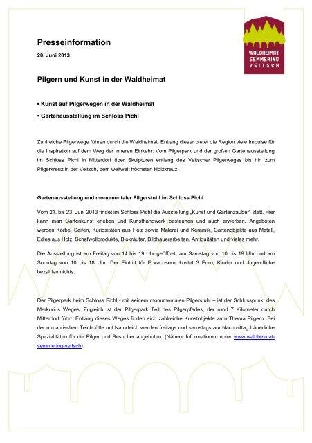 Pilgern und Kunst in der Waldheimat - Waldheimat Semmering Veitsch