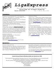 Mitteilungen der Volleyball-Bundesliga Saison 2002/2003 Nr. 1 vom ...