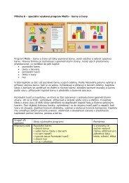 Příloha 6 – speciální výukový program Méďa – barvy a tvary ...