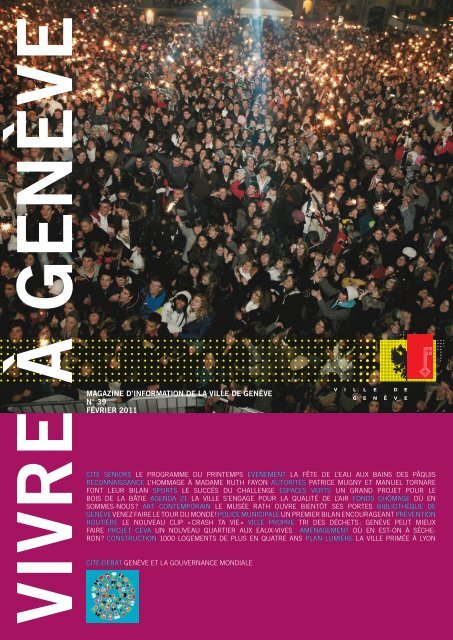 Magazine Vivre à Genève no 39 - Ville de Genève