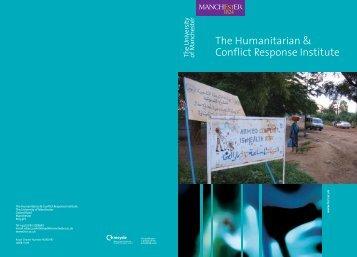 The Humanitarian & Conflict Response Institute - the British ...