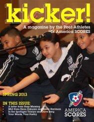 Kicker! Spring 2013 - America SCORES