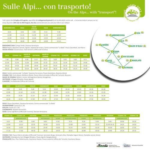 collegamenti gratuiti - Turismo Torino