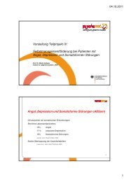 Teilprojekt IV - Selbstmanagementförderung in der ... - Psychenet