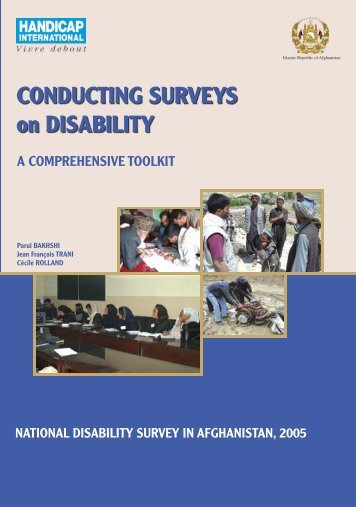 Conducting Surveys on Disability: A Comprehensive Toolkit