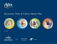 Recreation, Parks and Culture Master Plan - Town of Ajax