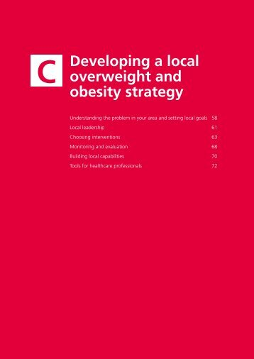 Healthy Weight, Healthy Lives: Section C - UK Faculty of Public Health