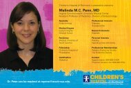 Children's Hospital Of Richmond Is Pleased To Welcome - Virginia ...