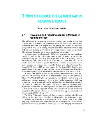 3 how to reduce the gender gap in reading literacy - Pisa