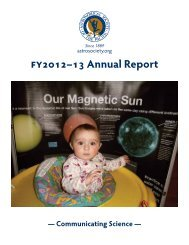 2012 Annual Report - Astronomical Society of the Pacific