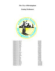The City of Birmingham Zoning Ordinance