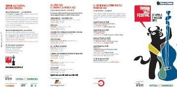 TORINO JAZZ FESTIVAL OFFERTA TURISTICA ... - Turismo Torino