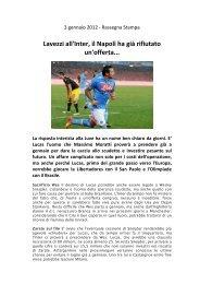 Lavezzi all'Inter, il Napoli ha già rifiutato un'offerta... - Napoli2000.com