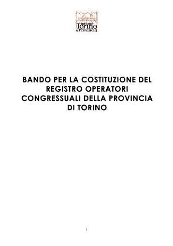 bando per la costituzione del registro operatori ... - Turismo Torino