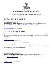 CASTELLI E DIMORE STORICHE 2013 - Turismo Torino