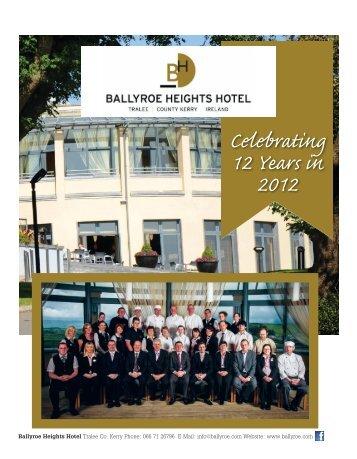 Celebrating 12 Years in 2012 - Ballyroe Heights Hotel