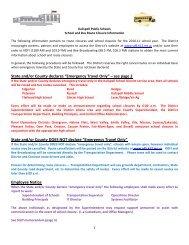 School Closure Information - Kalispell School District 5