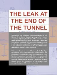 Cover Story: The Leak at the End of the Tunnel - Wentworth Institute ...
