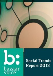 Social Trends Report 2013 - Bazaarvoice