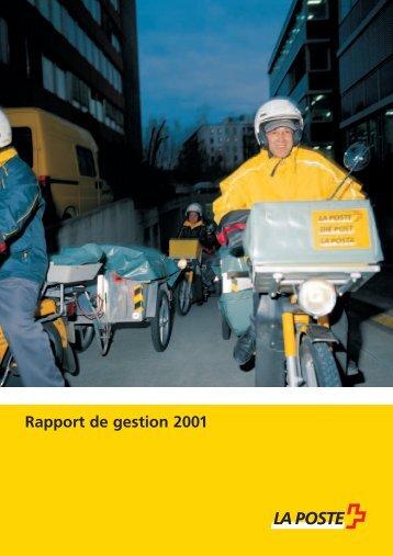 Rapport de gestion 2001 - La Poste Suisse