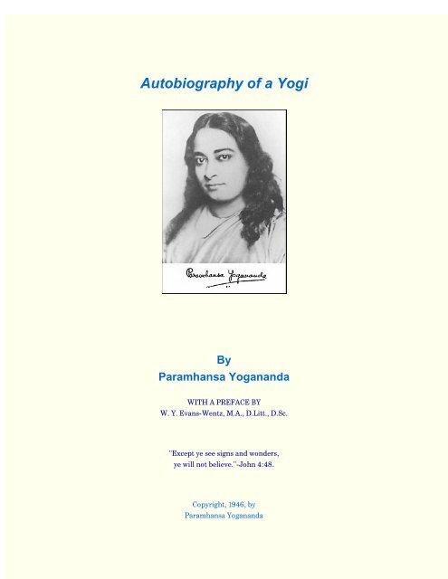 Autobiography of a Yogi - by Paramhansa     - HolyBooks com
