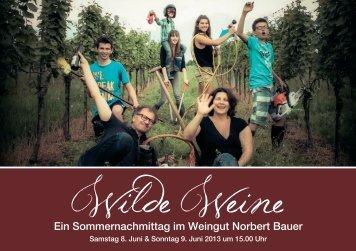Ein Sommernachmittag im Weingut Norbert Bauer