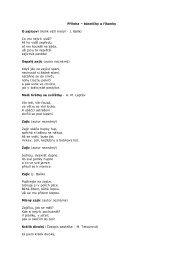 Příloha – básničky a říkanky O zajícovi (Kolik váţí motýl - J. Balík) Co ...