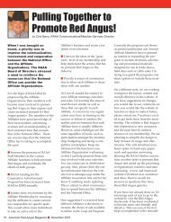 Pulling Together to Promote Red Angus! - Red Angus Association of ...