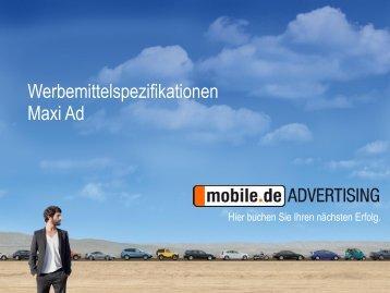 Maxi Ad - mobile.de Advertising