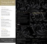 bistro menu - Grand Hotel