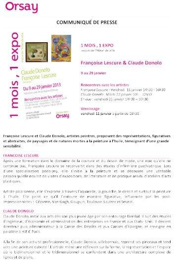 Communiqué de presse JANVIER - Orsay