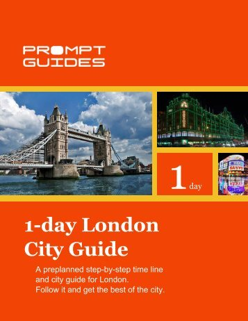 1-day London City Guide - Prompt Guides