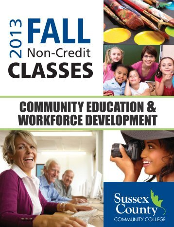 CE Course Guide F13.indd - Sussex County Community College