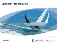 Présentation du fonds Union Obli High Yield 2015