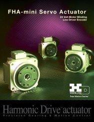 FHA-mini Servo Actuator - Harmonic Drive LLC