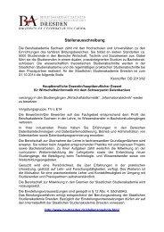 ausführlichen Stellenausschreibung - Berufsakademie Dresden
