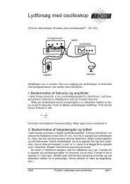 Lydforsøg med oscilloskop
