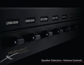 Speaker Selectors • Volume Controls - Banks Electric