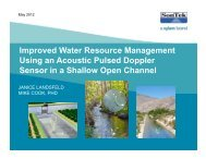Improved Water Resource Management Using an Acoustic Pulsed ...