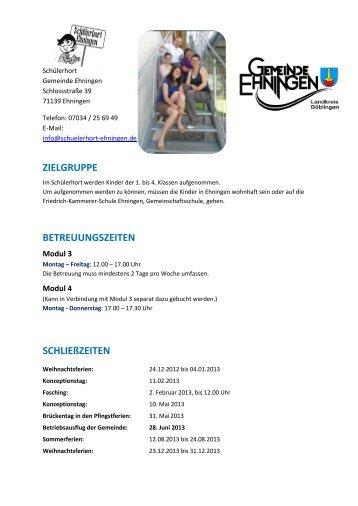 Schülerhort - Ehningen