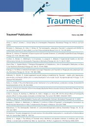 Traumeel® Publications - Heel