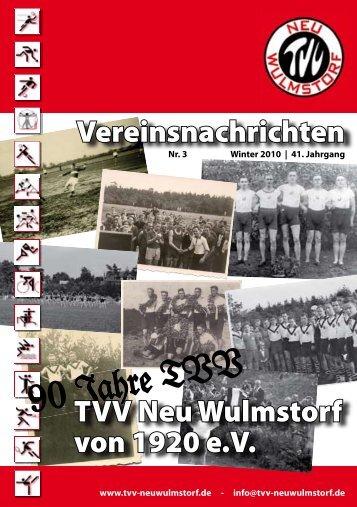 90 Jahre TVV -  TVV Neu Wulmstorf von 1920 eV