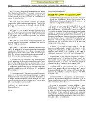 Annexe, Décret 1051-2009 - Régie de l'énergie