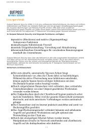 proaktive (Blockieren) und reaktive (Signaturprüfung ... - eshop2.de