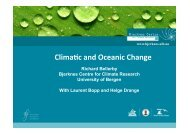 Climate and Oceanic Change - meece