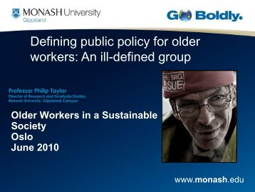 Professor Philip Taylor - Older workers in a sustainable society ...